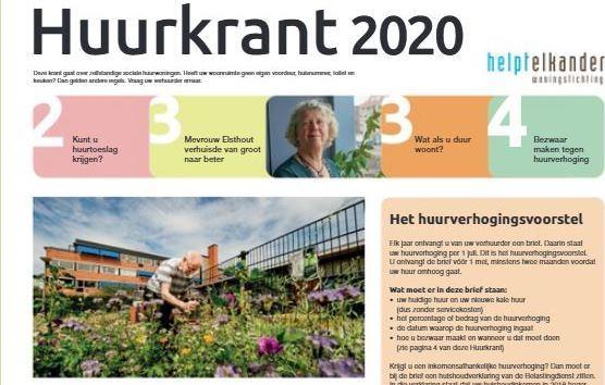 Huurverhoging per 1 juli 2020